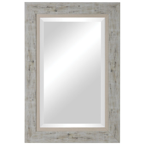 Brannon Rustic Light Wood Mirror front view