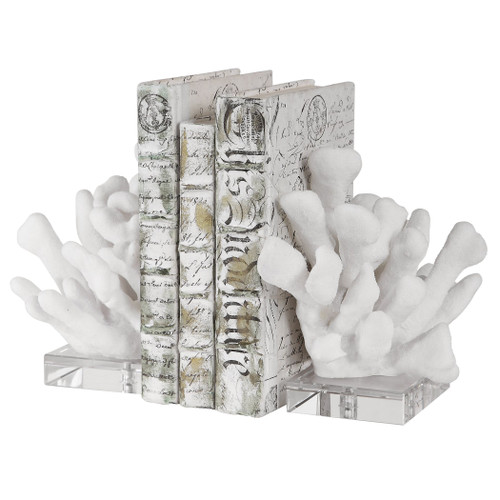 Reef White Bookends
