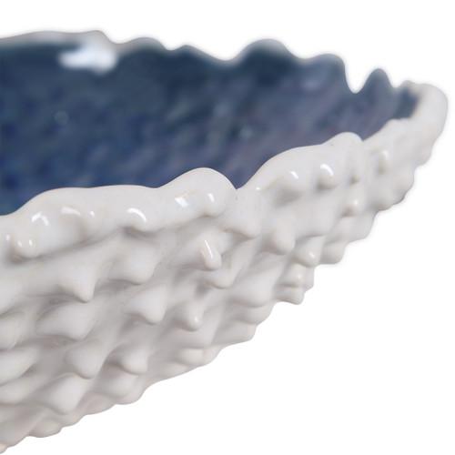Fijian Reef White Bowl close up