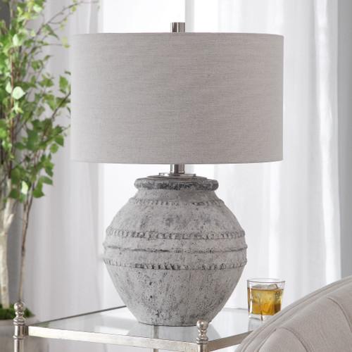 Majorca Stone Table Lamp room example