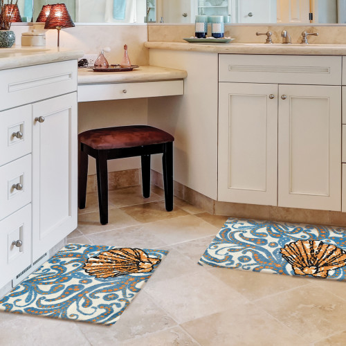 Coastal Dream Shell Accent Rug room view