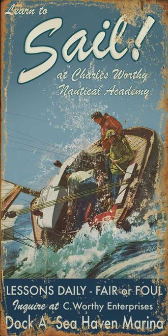 Sailing Lessons Custom Beach Sign