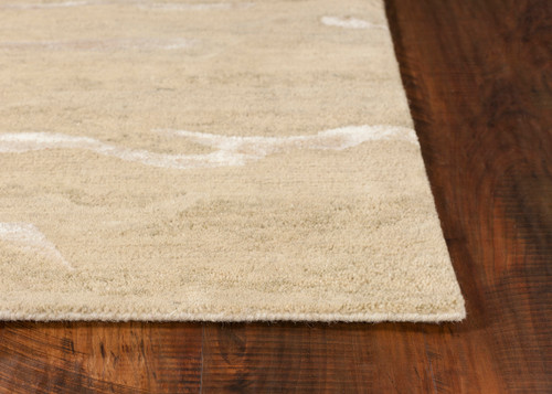 Serenity Dune Breeze Luxury Wool Rug corner