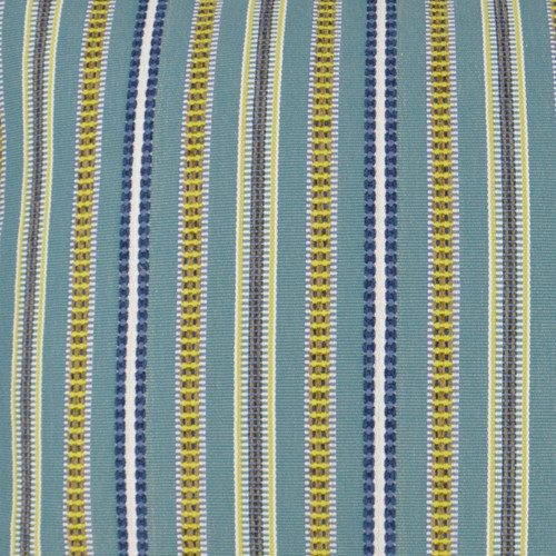 Comino Lagoon Striped Pillow fabric close up