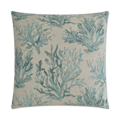 Aqua Reef Encounter Embossed Pillow