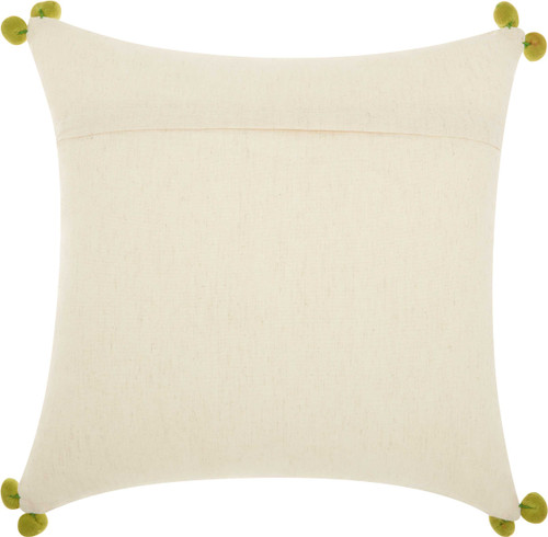 Royal Palm Embroidered Four Pineapples Pillow