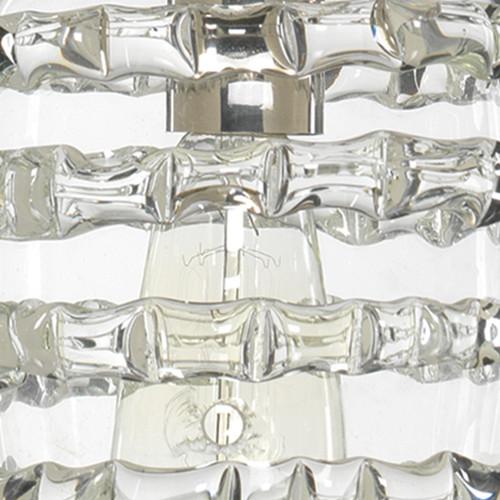 Clear Glass Long Ribbon Pendant close up