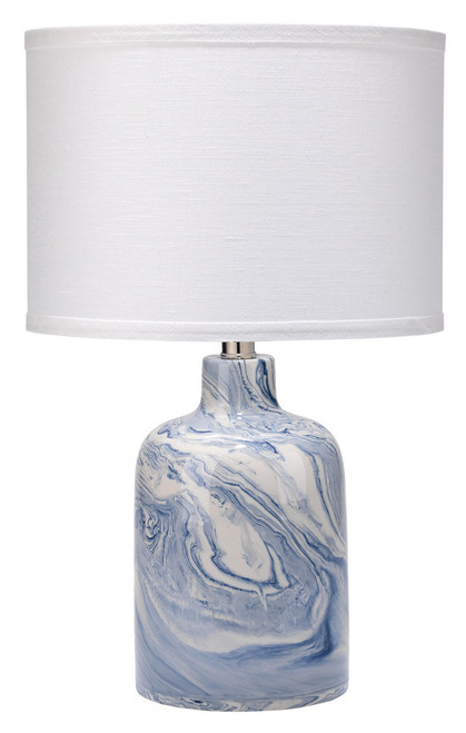 Atmosphere Blue and White Swirl Table Lamp