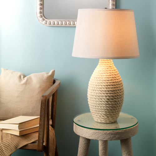 Maritime Rope Wrapped Table Lamp lifestyle image
