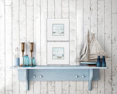 Calm Sailing Cottage Framed Prints - Set of Two