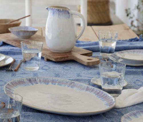 Brisa Ria Blue Large Oval Platter lifestyle