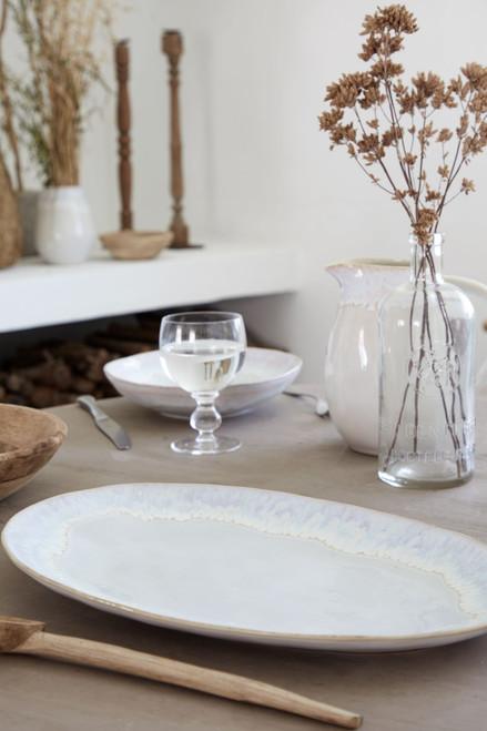Brisa Salt and Sea Large Oval Platter lifestyle image