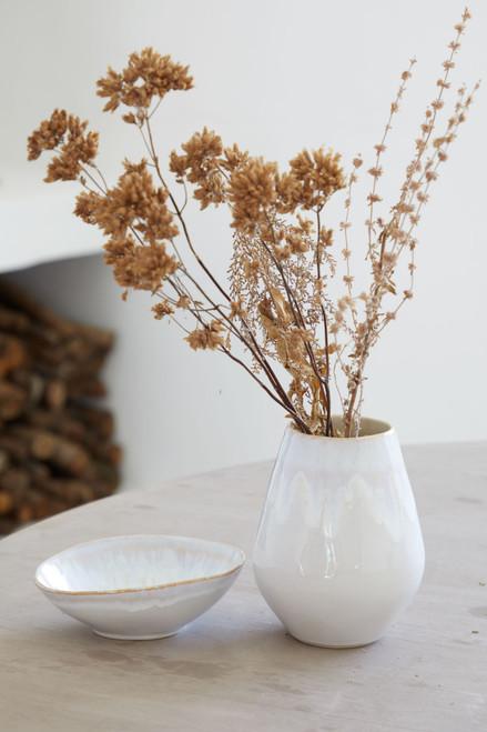 Brisa Salt and Sea Small Oval Vase on table
