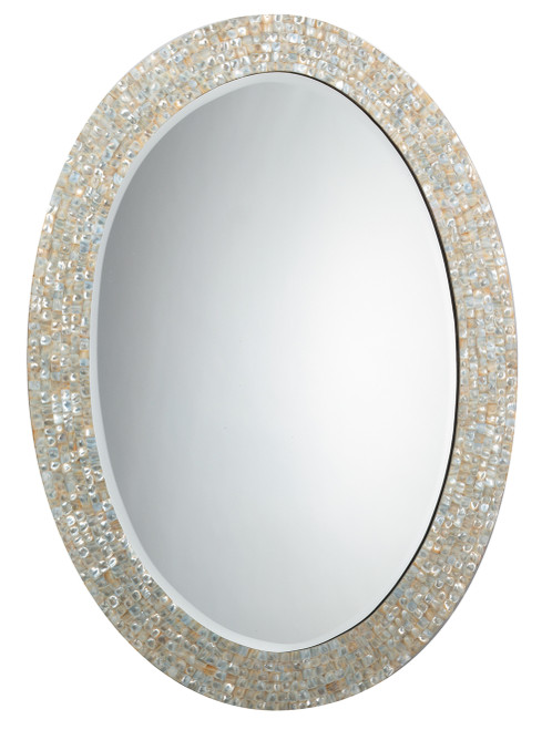 Sea Chic Oval Mirror in Mother of Pearl