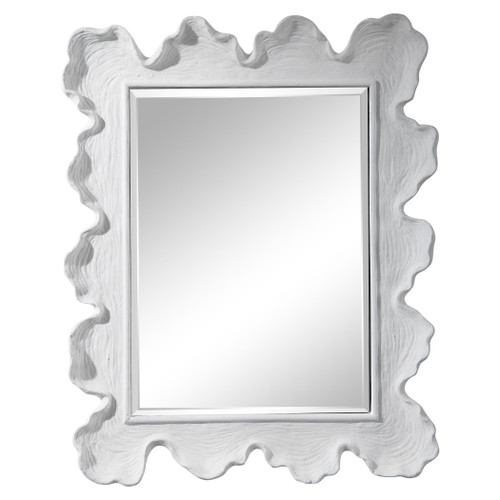 White Sea Coral Coastal Mirror