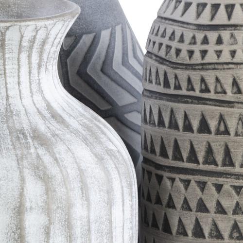 Beachy Boho Geometric Vases - Set of 3 close up