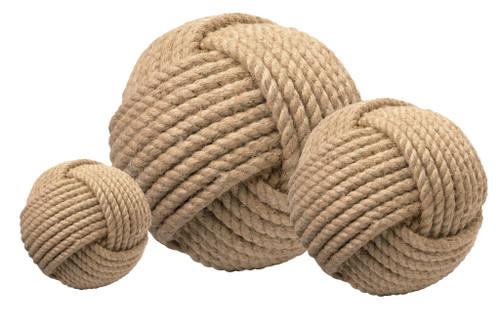 Jute Rope Wrapped Balls - Set of Three