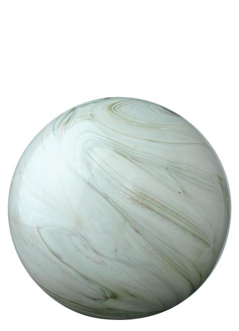 Glass Float Balls in Sage Swirl Glass small