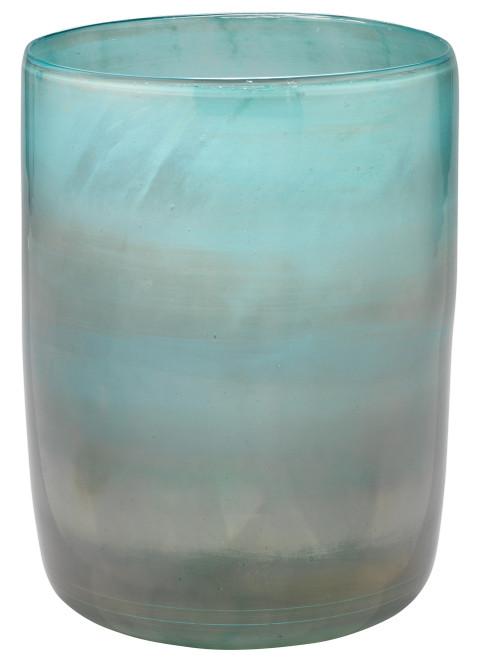 Medium Vapor Vase in Metallic Aqua
