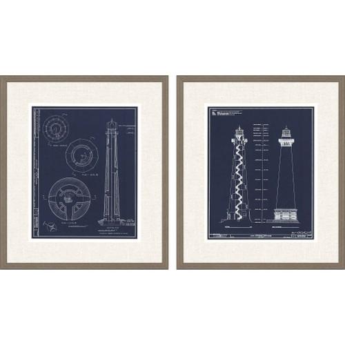Lighthouse I Set of Two Framed Art