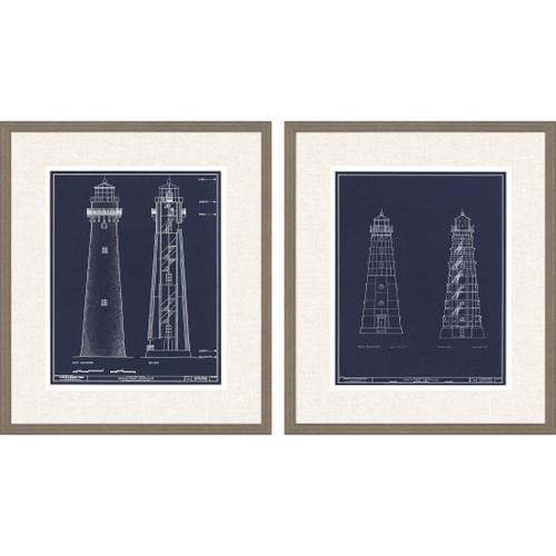 Lighthouse II Set of Two Framed Art