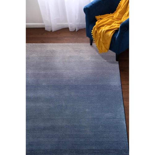 Arca Sea Blues Plush Wool Rug room view 1
