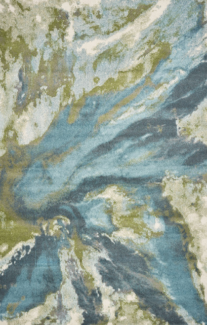 Turquoise Abstract Watercolors Rug