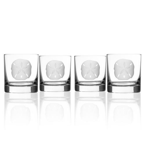 Sand Dollar Rocks Glasses - Set of 4