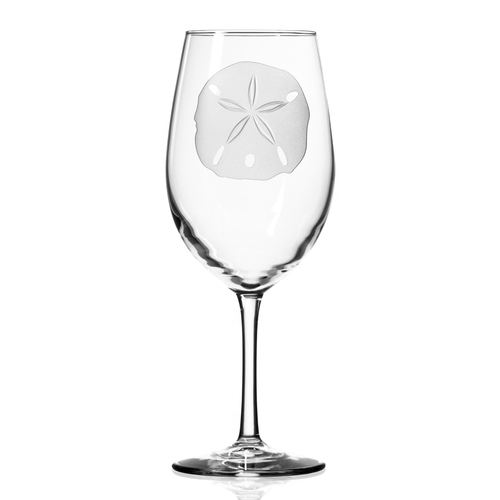 Sand Dollar 18 oz. Wine Glasses - single glass