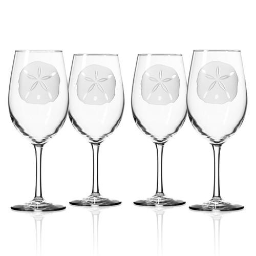 Sand Dollar 18 oz. Wine Glasses - Set of 4