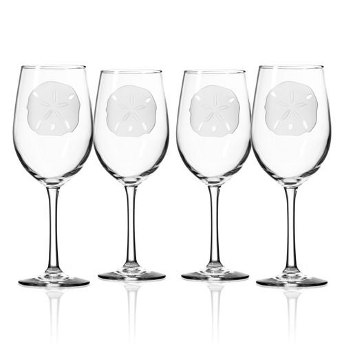 Sand Dollar 12 oz. Wine Glasses - Set of 4