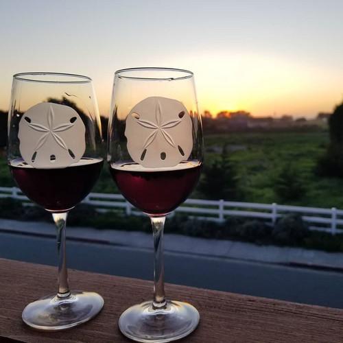Sand Dollar 12 oz. Wine Glasses beauty image