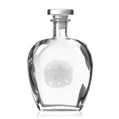 Sand Dollar Etched Glass Decanter