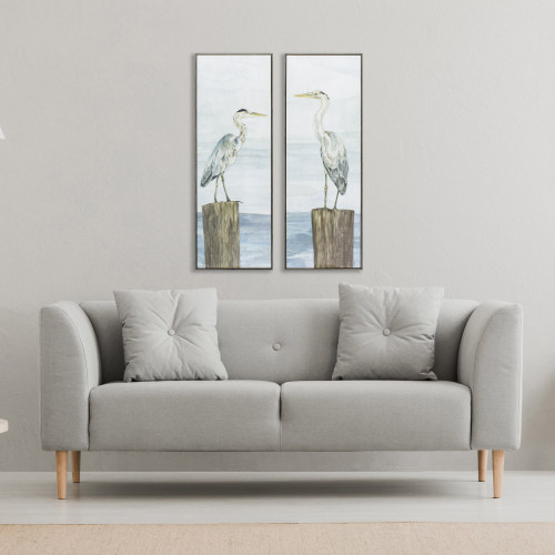 Pier Visitors Panel Art - Set of Two room example