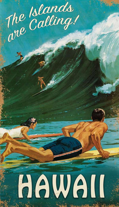 North Shore Surf Custom Art Sign