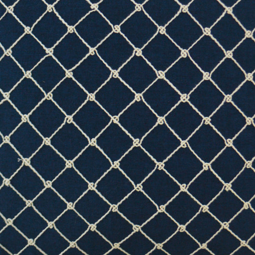 Netted Rope Ties Luxury Pillow close up fabric