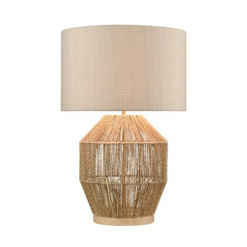 Corsair Braided Rope Table Lamp Natural Finish light on coastal nautical elegant