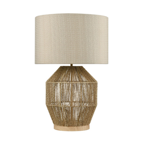 Corsair Braided Rope Table Lamp Natural Finish light off