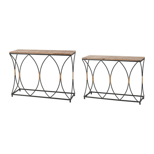 Key West Set of Two Console Tables