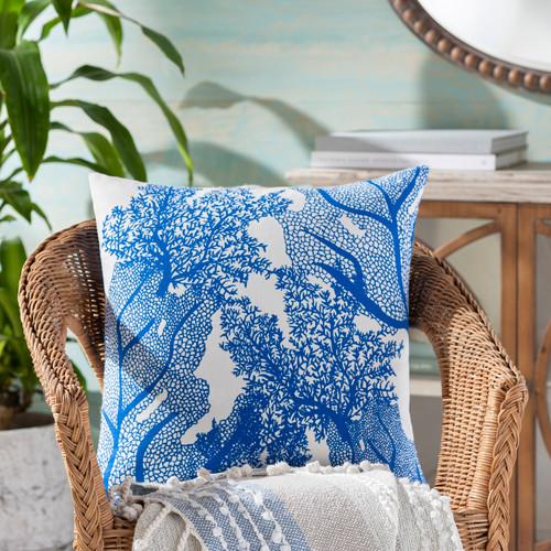 Royal Blue Sea Life Pillow room view
