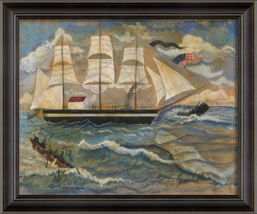 Attacked by Moby Black Framed Art - Large