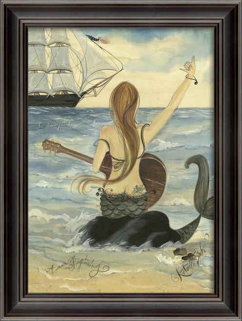Let's Rock Mermaid Art - Black Frame