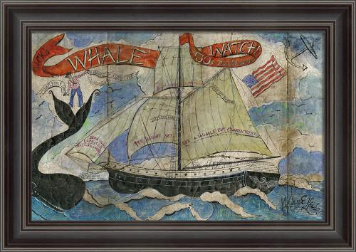 Jack's Whale Watch Framed Folk Art