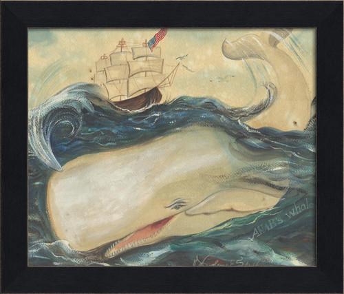 Ahab's Whale II Black Framed Art