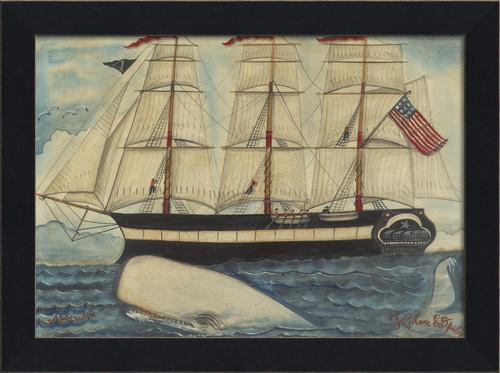 Ahab's Whale I Black Framed Art