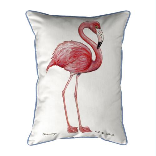 Bright Pink Flamingo Outdoor Pillow