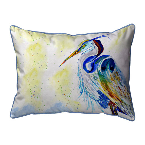 Watercolor Blue Heron Pillow