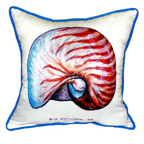 Nautilus Shell Large Indoor/Outdoor Pillow 18x18