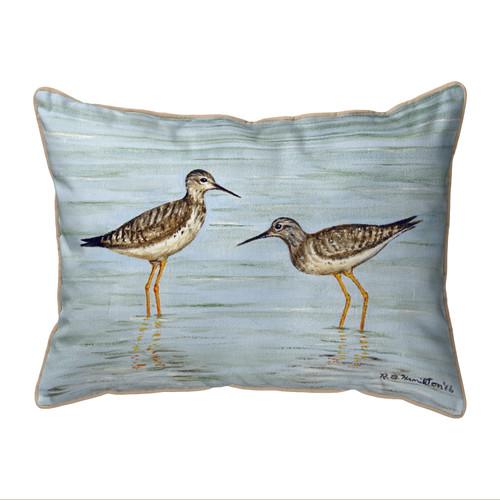Yellow Legs Shore Bird Indoor-Outdoor Pillow