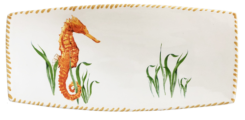 Seahorse Rectangle Serving Tray